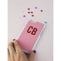 Personalised Glitter Initial Phone Case  Monogram Phone Cover  Personalised Phone Case  Custom Phone Case  Personalized Gift  iPhone - Custom Gifts