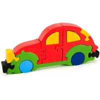 Colourful Wooden Volkswagen Beetle,  Handcrafted Jigsaw Toy Puzzle, Educational,Montessori 3D Car Puzzle, Ideal Gift - Jigsaw Gifts