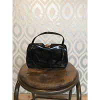 Vintage black patent Kelly handbag - Handbags Gifts