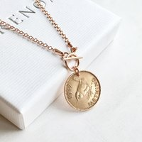 70th Birthday Gift for Women  1947 Jenny Wren Farthing Necklace  Rose Gold Necklace, For Her, 70th Present, Mother, Sister, Grandmother - 70th Birthday Gifts