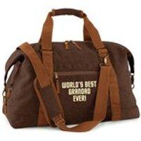 Worlds Best Grandad Weekend Bag Grandad Bag Holdall Travel Bag Weekend Away Best Grandad Ever Number One Grandad Gift Grandchild - Grandad Gifts