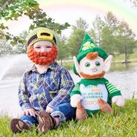 Personalised Leprechaun Teddy Bear, Embroidered Cubby Teddies, Custom Teddy bears, Boys Birthday Gift, New baby boys gift, Pussy cat, Kitten - Teddy Bears Gifts
