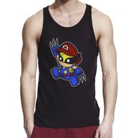 Inspired by Wolverine Supermario, Men Black/Navy Blue 100% Softstyle Cotton Tank Top S2XL, d229 - Wolverine Gifts