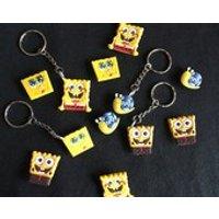 Spongebob Squarepants Keyrings/Keychains  cartoon cute emo kids goth fun jake finn minecraft japan kitsch 90s - Spongebob Squarepants Gifts