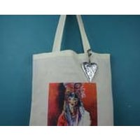 Cotton tote bag, shoulder bag, shopping  bag, reusable bag with a printed painting of an Oriental, Japanese, Chinese girl, Chinese woman - Oriental Gifts