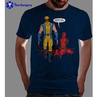 Call It A Draw  Wolverine Vs Deadpool TShirt Monty Python Tee Holy Grail Parody TShirt Funny Deadpool Tee - Wolverine Gifts