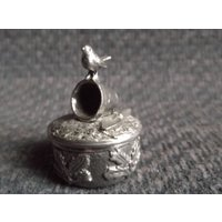 80s vintage Pewter cast tooth fairy pot / ring pot gardener theme - Gardening Gifts