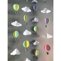 The Fox and Alice Hot air balloon nursery garland // 4 strands // nursery decor // baby shower - Hot Air Balloon Gifts