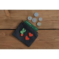 Cactus coin purse  money purse, cactus gift, cacti money pouch, cacti purse, storage pouch, cactus accessories, gifts for her, womens gifts - Money Gifts