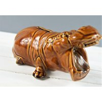 Hippo Money Box by Szeiler Potteries, Novelty Money Box dating from the 1970s. Made in England - Hippo Gifts