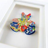 Handcut Bright Liberty Print Bear. New Baby Gift. Nursery Decor. Teddy Bear. - Teddy Gifts