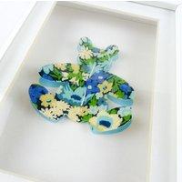 Handcut Blue and Green Liberty Print Bear. New Baby Gift. Nursery Decor. Teddy Bear. - Teddy Gifts