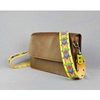 Leather Bag Strap Handmade // Vintage Statement Lemon Upcycled Replacement Handbag Strap - Handbags Gifts