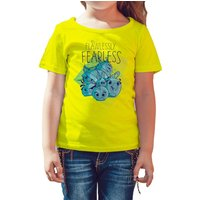 Angry Birds Team Girls Graphic Fearless Official Kids TShirt (Yellow) - Angry Birds Gifts