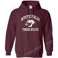 The Vampire Diaries inspired Hoodies  Mystic Falls Salvatore 17 Front And Back. - Vampire Gifts