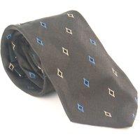 USA Polo Assn 100% Silk Black Diamond Design Wide Fit Mens Tie - Polo Gifts