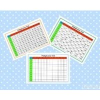 Printable Multiplication squares, Times Tables, Numeracy, Multiplication grid, Teaching Resource, learning, home schooling, educational - Educational Gifts