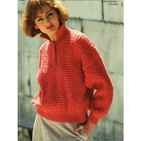 womens sweater knitting pattern pdf ladies polo shirt cable jumper with collar 3238 DK light worsted 8ply pdf Instant Download - Polo Gifts
