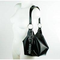 Latex Buckle Slouch Handbag - Handbags Gifts