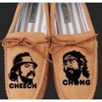 cheech and chong slippers personalised mens custom still smoking t shirt - Smoking Gifts