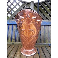 Arts and Crafts Copper Repousse Coal Scuttle / Stick / Brolly Stand in the Art Nouveau style. - Arts And Crafts Gifts