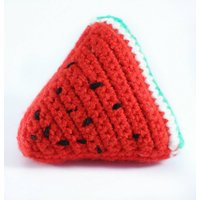 Crocheted Watermelon Slice Play Food  Educational Toys Learning Games  Preschool  Nursery  Toddler  Childrens  Teething  Learning - Educational Gifts