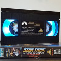 Retro VHS Lamp Star Trek Next Generation with Case Original Night Light Table Lamp. Multifunctional USB lights  Remote Control. Great Gift. - Remote Control Gifts