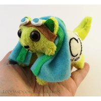Elemental Cats: Chlorine  OOAK handmade periodic table science art doll soft toy - Soft Toy Gifts