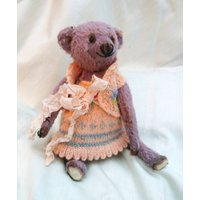 Lila  Artist Bear, Collectible Bear, Vintage Toy - Artist Gifts