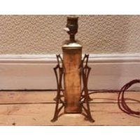 Arts and crafts era brass desk lamp: professionally rewired - Arts And Crafts Gifts