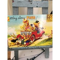 Bamforth Merry Message Series  1940s Getting Along Fine Postcard with Teddy Bears. - Teddy Bears Gifts