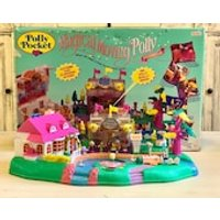 Vintage Polly Pocket Magical Movin Pollyville Magnetic Set  Complete  NEW Condition Year 1996 Original Box Bonus Gift Included - Polly Pocket Gifts