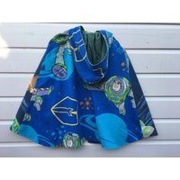 Toy Story Childrens Buzz Lightyear Astronaut fully upcycled  recycled Astronomy Kids Super Hero Cape boys girls unisex kids Age 4 5 6 yrs - Buzz Lightyear Gifts