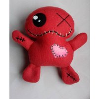 Red Voodoo doll, witches poppet, pincushion, zombie, divorce gift, heartbreak, UK made - Voodoo Doll Gifts