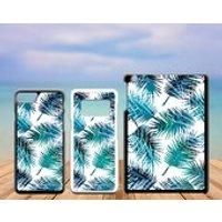Summer Tropical Plastic Phone Case iPhone 5 5C SE 6 7 8 X Plus Galaxy J5 S5 S6 S7 S8 Edge Note Xperia iPad Air Mini 2 3 4 No.04 Palm Leaves - Ipad Gifts