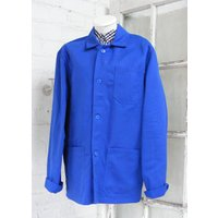 Vintage French Blue workwear chore artist jacket Dead stock size M L depending on the fit you like code26 - Artist Gifts