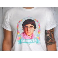 Louis Theroux Gangsta  Theroux  Theroux Floral Illustration White Unisex TShirt - Floral Gifts