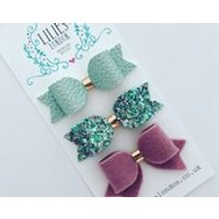 Mint and lilac bows - Lilac Gifts