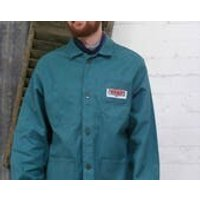 Vintage French green  workwear chore artist jacket size  ML depending on the fit you like - Artist Gifts