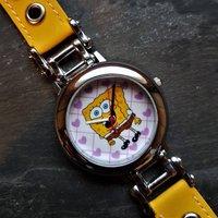 SpongeBob SquarePants Wrist Watch, Squidward Tentacles, Patrick Star, Nickelodeon, Patrick Sanders, Gift, Yellow, Silver, Hearts, Purple - Spongebob Squarepants Gifts