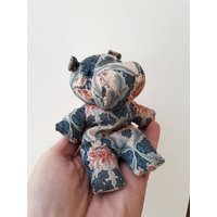 Cute Vintage Liberty of London Print Fabric Hippo Cloth Doll  embroidered tag - Hippo Gifts