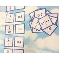 Fractions and decimals flash cards, KS2, Teaching resource, Educational cards, Matching cards, number cards, maths aid - Educational Gifts