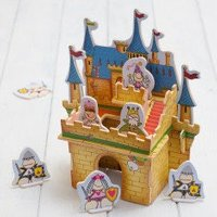 Build Your Own 3D Wooden Castle Playset - Build Your Own Gifts