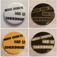 The Mans On A Mission Pinback Button Badge, 1/25mm, Geeky Badge, Badge Geeks, Novelty, Fun, Gift, Yarn Subscription, Lady Gaga - Lady Gaga Gifts