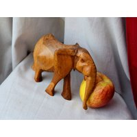 Elephant figurine wooden elephant ornament animal african elephant safari wooden ornament elephant statue decor home warming lucky elephant - Warming Gifts