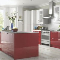 Cooke & Lewis High Gloss Red Contemporary Op4 Door Frame (W)500mm