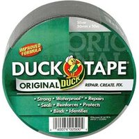 Duck Silver effect Duct Tape (L)50m (W)50mm