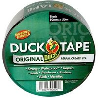 Duck Black Cloth tape (L)50m (W)50mm