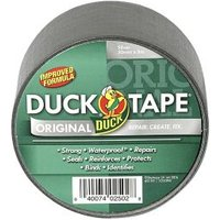 Duck Silver effect Cloth Tape (L)5m (W)50mm