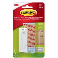 3M Command White Adhesive saw-toothed picture hanger  3 Pieces